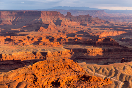 View from Deadhorse Point State Park in Utah at Sunset, USA Reklamní fotografie