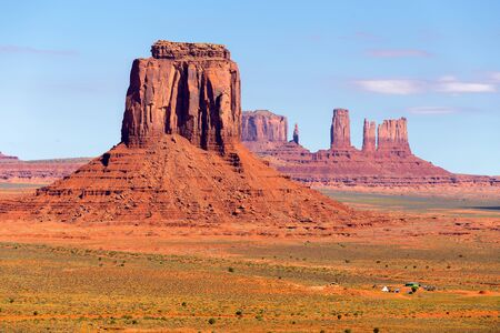 Monument Valley View from Artists Point, Navajo Nation Stock Photo