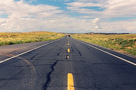 straight road in Arizona, USA Stok Fotoğraf - 88777040