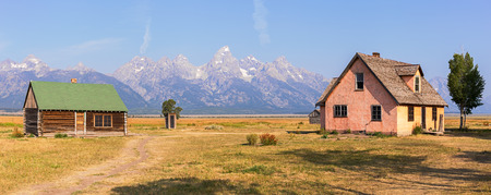 Mormon Row Cabins in Grand Teton National Park, WY, USA