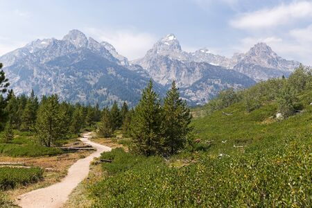 Trekking trail in Grand Teton National Park, WY, USA