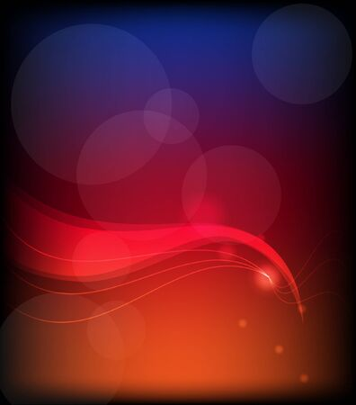 fireflies: Abstract vector background