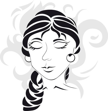 black hair style: ornamental women