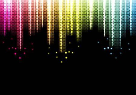 light beams: abstract bright background. Vector Illustration