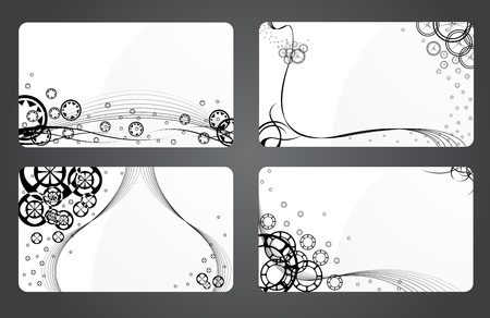 small business: Design a business card layout. Vector illustration