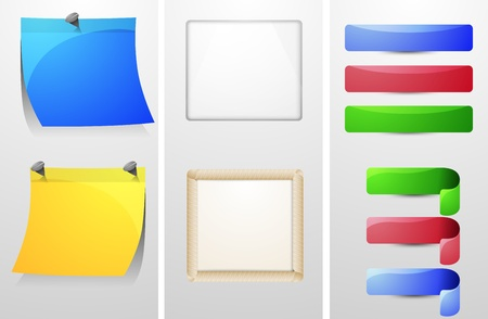 set of Web components Stock Vector - 13177811
