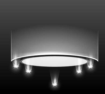 empty podium with light Vector
