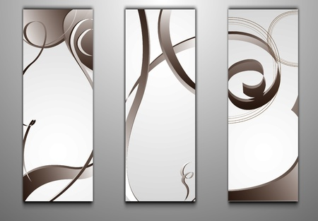 set of models of business cards Vector