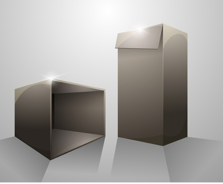 corrugated box: Package box Illustration