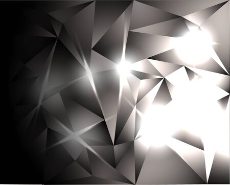 abstract background - bright crystals Stock Vector - 13281315