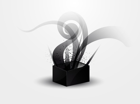 abstract background - black smoke pattern in Pandora s box Vector