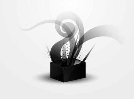 dark gray line: resumen de antecedentes - patr�n de humo negro en la caja de Pandora s