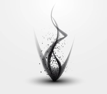 abstract background - black smoke pattern