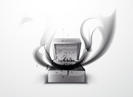 absorption: abstract background - black smoke pattern in Pandora s box