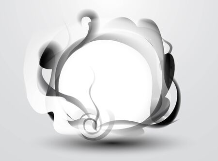 absorption: abstract background - black smoke pattern frame