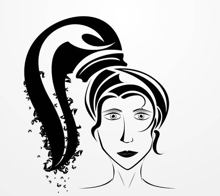 ine: silhouette of a woman s face