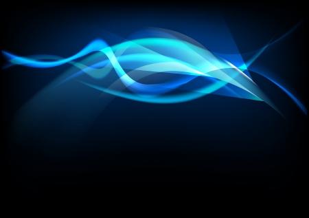 luminescence: abstract background luminescence wave Illustration