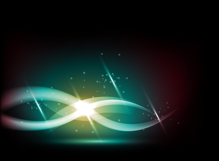 fireflies: abstract background - energy wave Illustration