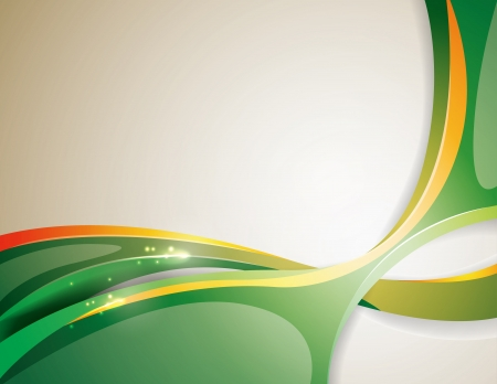 Background with volume green lines Vector