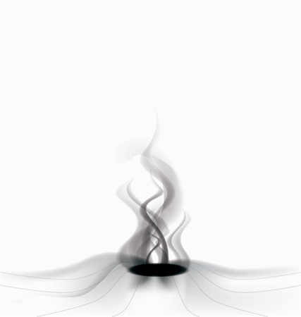 scratchboard: background with smoke Illustration