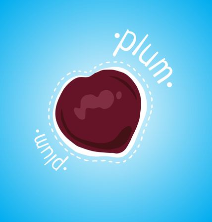 plums: Ripe plums on a blue background