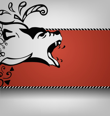 growl: bears pattern side view on an abstract background