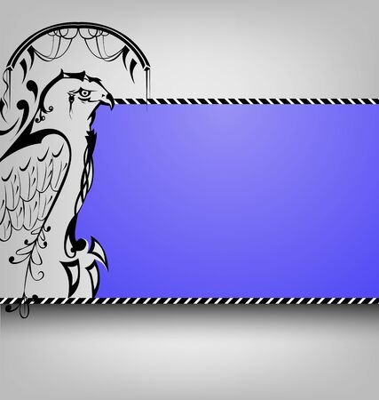 growl: eagles pattern side view on an abstract background