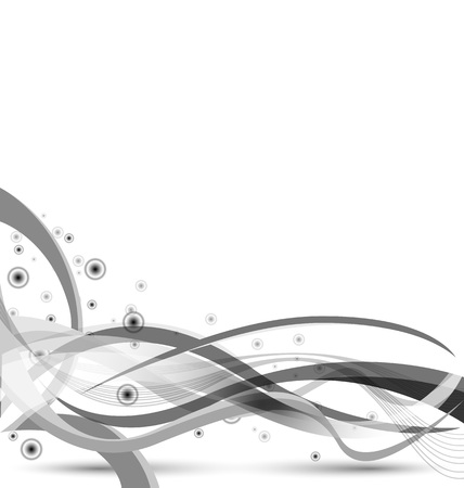 smoothness: beautiful vector background of gray interlocking strips Illustration