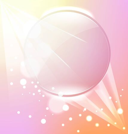 flares: transparent frame on the pink background of rays and flares