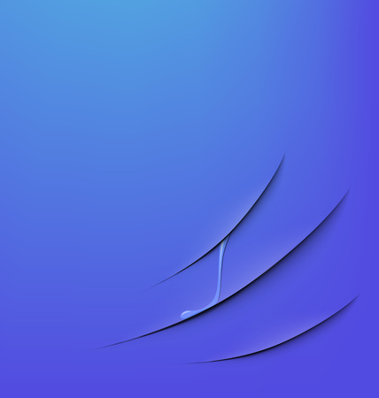 slit: abstract background cut on a blue background