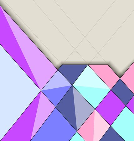 page layout: multicolored mosaic background with highlights and shadows