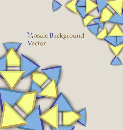 multilevel: simple multilevel multicolored mosaic background  with shadows Illustration