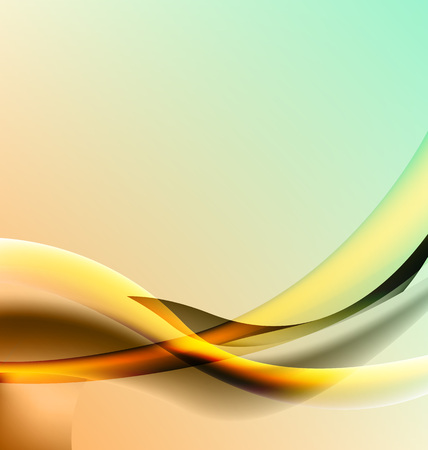 smoothness: Orange abstract background with elements of transparency wave