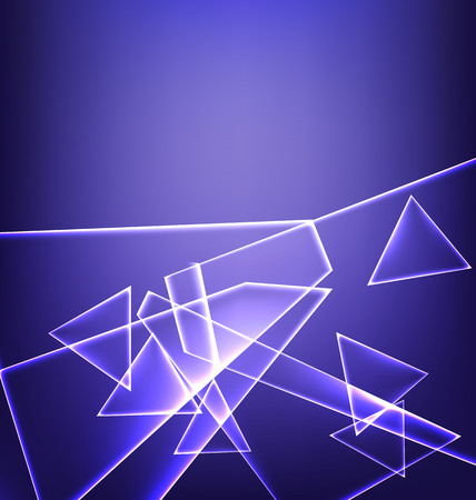 downtime: blue abstract background with a plurality of LED elements