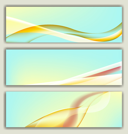 lightness: abstract background banner collection for selection and promotion Illustration