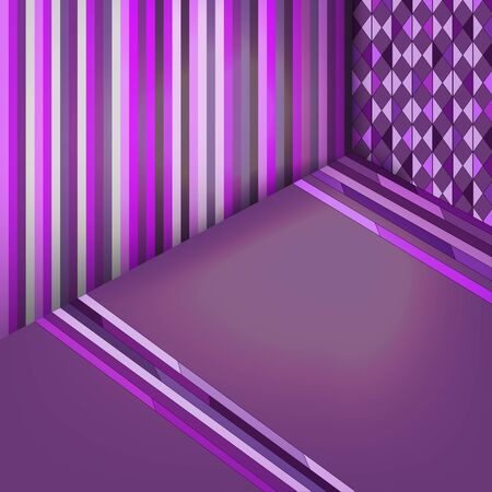cuboid: colorful abstract geometric background in purple with stripes