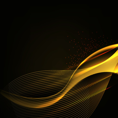 luminescence: abstract background luminescence wave with glow effects Illustration