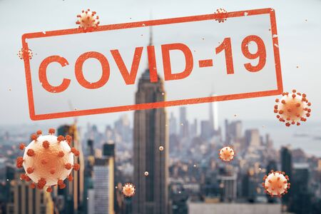 Concept city closed for quarantine due to coronavirus, COVID-19. Manhattan, New York city, USA Stock Photo