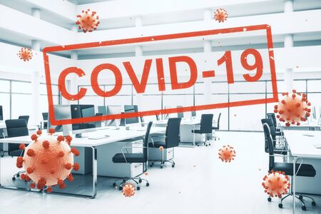 Concept closed offices for quarantine due to COVID-19