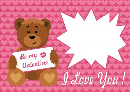 Frame Valentine Bears  Vector illustration  All the layers separately  Available for editing  Increase to any size without loss of quality Stock Vector - 16852383