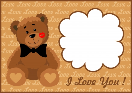 editing: Frame in love bear  Vector illustration  All the layers separately  Available for editing  Increase to any size without loss of quality