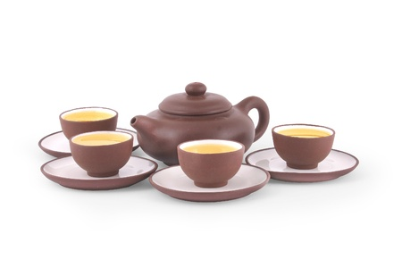 Traditional chinese tea set Stock Photo