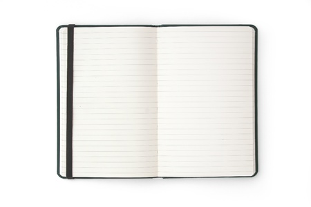 Open blank notebook  phonebook  diary