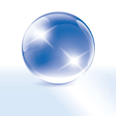 Blue Crystal Esoteric Sphere - Ball on the white background Stock Vector - 18430941