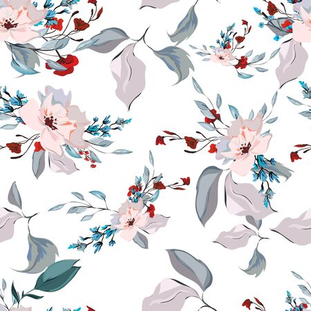 floral watercolor patterns. print Wallpaper to portray. hand-drawn paints. living material.