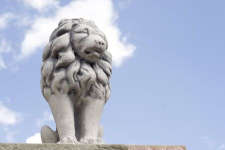 Lion figure made of cement