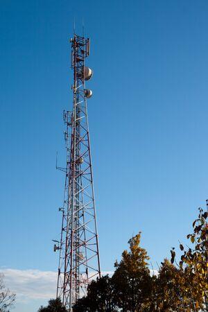 comunication: Comunication antenna against blue sky