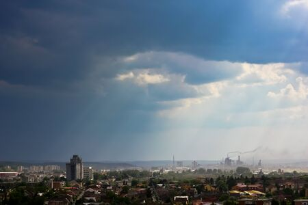 relentless: a view from the Tirgu-Mures city, romania Stock Photo