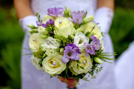 brides flowers bouquet
