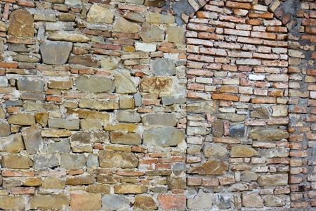repaired: hidden brick wall window Stock Photo